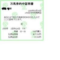 中山牝馬S、馬連17,730円的中!