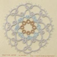 色糸でDPPパターン・1