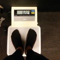 昨日の体重62.2㎏