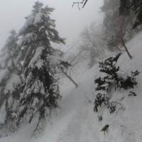 冬の石鎚山です。