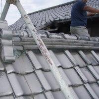 日本瓦の屋根 地震の影響のメンテナンスをしました