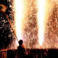 吹き上がる炎の祭り
