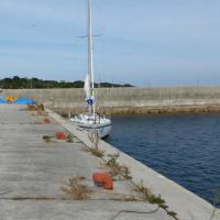 別府ヨットハーバー~国東市安岐漁港にて、停泊中食事買い物も近くにありて長閑な所です。天候晴れ、風N10ノット前後、波0.5m、所要時間3時間(艇速6ノット)