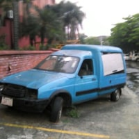Road and broken cars