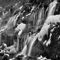 思い出の写真 ⑪ 「厳冬の吐竜の滝」