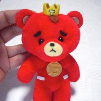 100均の赤クマをTBにリメイク
