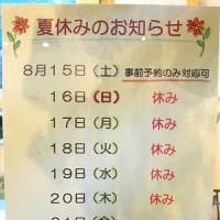 夏休みのお知らせ~2015~