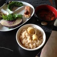 茄子と破竹ご飯