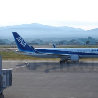 ANA印のウイングレット767が小松空港に初飛来