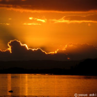 西表島に沈む夕陽