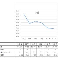 2016/12/25 ダイエット78Kg台へ