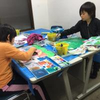 日曜日絵画教室では、雨の絵を描きました、