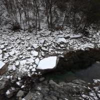 面河渓関門の様子(1月17日)