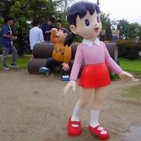 富山の高岡おとぎの森公園でドラえもん達とたわむれたよ!