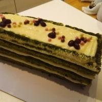 家ケーキ~抹茶チーズスクエア
