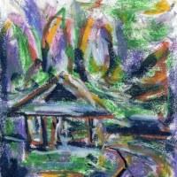 朝日記170618 音楽絵画371 デュアル・ワールド と今日の絵