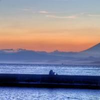 富士の見える夕景 【HDR写真】