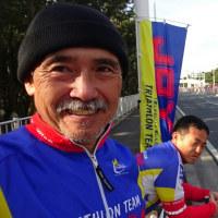 湘南マラソンの応援に来ました。