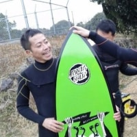 バレンタインサーフはイカシタ親父たちでストーク⚡ バッチリいい波 皆でハッピーさーふHAPPY SURF