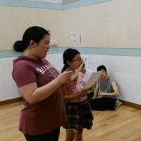 稽古場日誌 104号 8月5日のリーディングメンバー募集中 バレエからの合唱練習!