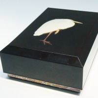 ミュージアム巡り 動物集合 螺鈿鷺之図漆箱