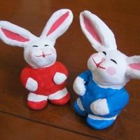 百均の粘土でウサギさん