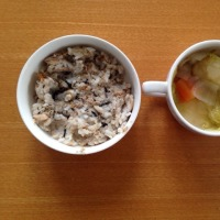 今日の離乳食(朝御飯)【142日目】