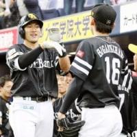 柳田ようやくお目覚め!待望の特大アーチを含む3打点!