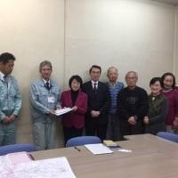 県道守谷流山線の歩道改修で、千葉県柏土木事務所交渉。