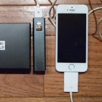 ユニクロノベルティのモバイルバッテリー