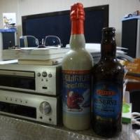 二本の高級ビール。