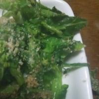鶏のミンチつくね、菜の花の胡麻和え、ひじきの煮物、酢の物