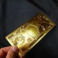 黄金の一万円札