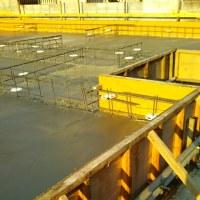 広瀬川側基礎工事