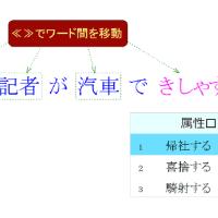 ≪≫でワード間を移動して変換