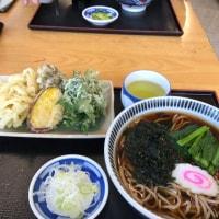 今日のお昼ご飯 道の駅こもちで天ぷらそば