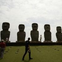 モアイ像は南国にピッタリでした