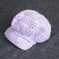 子ども用キャスケット帽(ピンク)