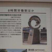 日本初の8時間労働制導入の記念碑がある場所