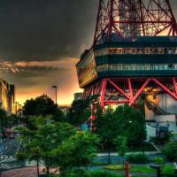 テレビ塔とサンセット