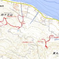 四十三山・源太穴火口のGPSトラック