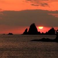 西伊豆の大田子海岸の夕景!