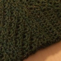 かぎ編みの靴下かたっぽ