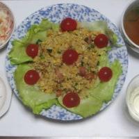夕食は「レタス・焼き飯」!