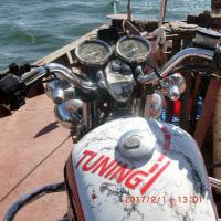 タグボートに曳かれて、ナイル川を遡る