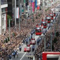 ★★★五輪とパラリンピックのメダリストによる合同パレードを実施