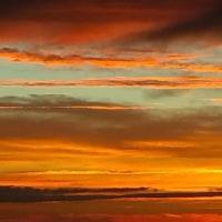 きょうの夕陽