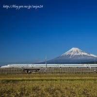 新幹線と富士