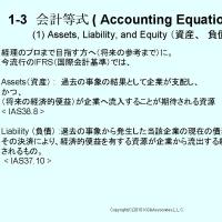 BATIC Sub1, 会計等式 Accounting Equation, (1)