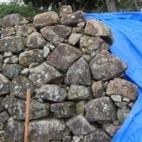 洲本城跡の石垣を視る「石垣の修理」